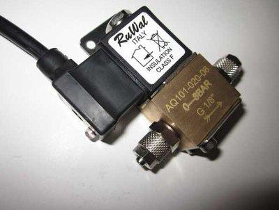 CO2-Magneetventiel 230V/50Hz 2Watt, voor slang van 4/6mm