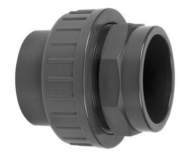 PVC 3-DELIGE KOPPELING 50mm